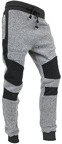 Hat and Beyond Casual Fleece Jogger Pants Active Elastic Urban Biker Slim Fit (Medium, 5005)