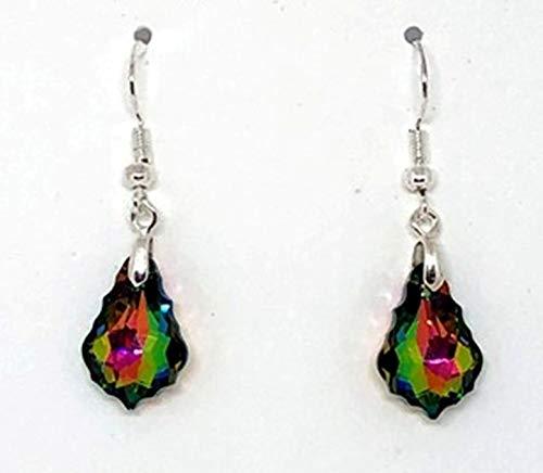 (Swarovski Earrings, Crystal Earrings, Crystal Rainbow Briolette Earrings)