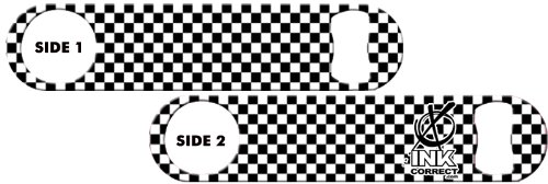 Killer Inked Bottle Opener: Checkers Black and White For Sale