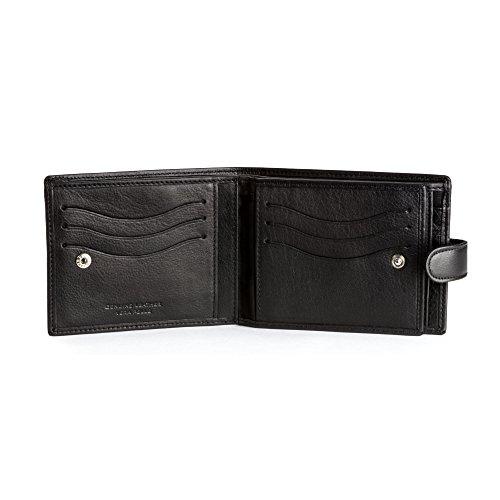 DV 11-214-01 - Bolso al hombro de Cuero para hombre Negro Negro compact