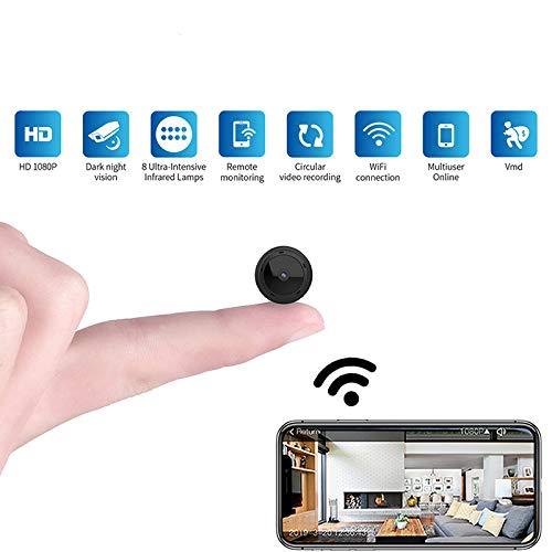 Camaras De Vigilancia Mini Cámara WiFi 1080P HD IR Visión ...