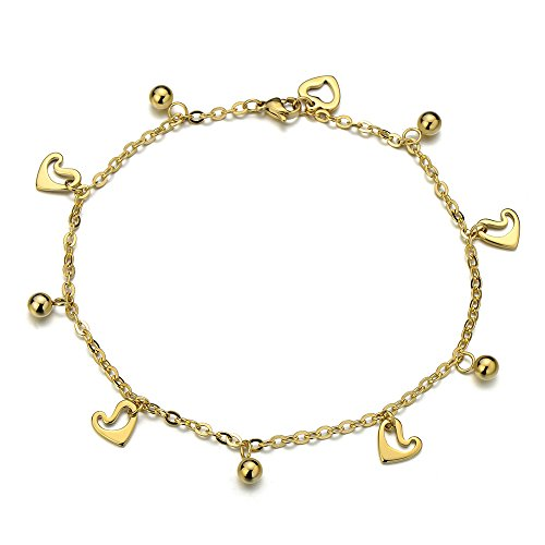 Anklet Bracelet Stainless Dangling Charms