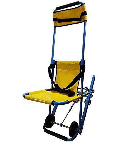 ブースそれに応じて粒子二つのシートベルトとEMS階段チェア、救急車消防士避難アルミ軽量医療階段チェア、350ポンドを持ち上げ