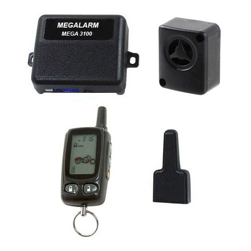 Megalarm - MEGA3100 - 2-Way LCD Motorcycle Alarm Remote Bike Security System (Motorcycle Alarm Scorpio)