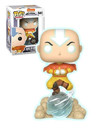 Funko Pop! Avatar The Last Airbender Aang on Airscooter Glow in the Dark GITD Chase - Figura decorativa de edicion especial
