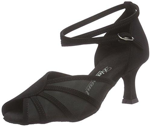 Nero L'america Standard Tanzschuhe 040 020 Damen Latein Ballo Scarpe schwarz Diamant 077 Donna Da amp; wqUCPH