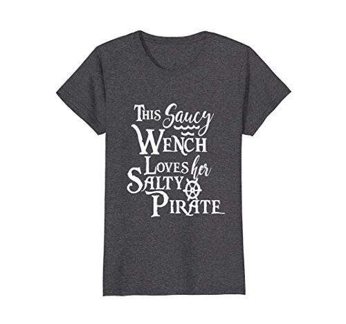 Womens This Saucy Wench Loves Her Salty Pirate