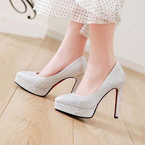 Mariage Glter Chaussures Chinois Haut Style talon Silver Mode Pointu Nouvelle Taille 43 2019 Printemps Automne 33 Femmes Super rpIqInt