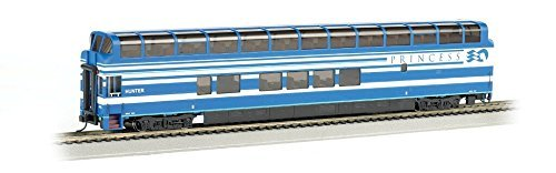 Bachmann Industries 89' Colorado Railcar Full-Dome Passenger Lighted Interior Denali Princess Hunter A-Car, HO Scale