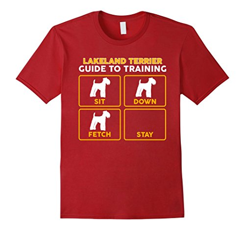 Mens Lakeland Terrier T-Shirt | Funny Guide To Training Large - Shop Lakeland