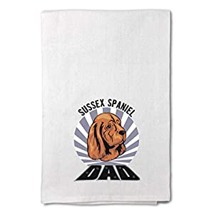 Style In Print Custom Decor Flour Kitchen Towels Dad Sussex Spaniel Dog Pets Dogs Cleaning Supplies Dish Towels Design Only 42