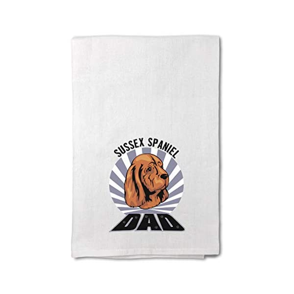 Style In Print Custom Decor Flour Kitchen Towels Dad Sussex Spaniel Dog Pets Dogs Cleaning Supplies Dish Towels Design Only 1
