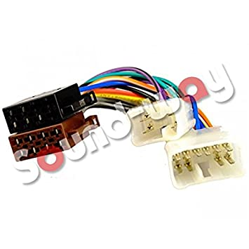 Car stereo radio ISO connector adapter harness Toyota: Amazon.co.uk ...