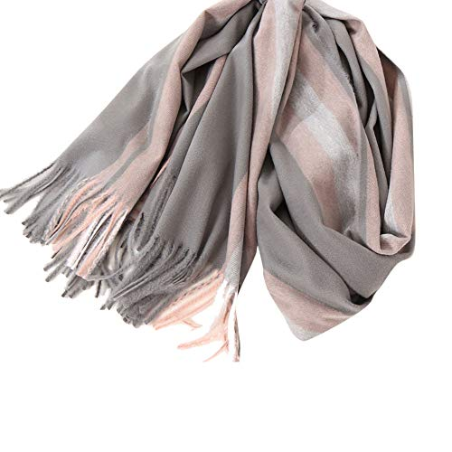 Fashion Scarfs for Women Hot Sale,DEATU Ladies Tassels Striped Imitation Cashmere Rectangle Scarf Air Conditioner Shawl (A) (Scarf Cashmere Hermes)