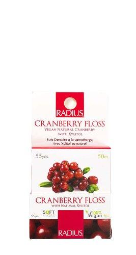 RADIUS Vegan Xylitol Cranberry Floss, 3 Count