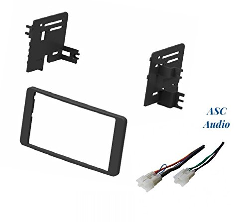Dash Install Kit and Wire Harness for Installing an Aftermarket Double Din Radio for Select 2003-2006 Toyota Tundra, 2003-2007 Toyota Sequoia - No Factory Premium Amp ()