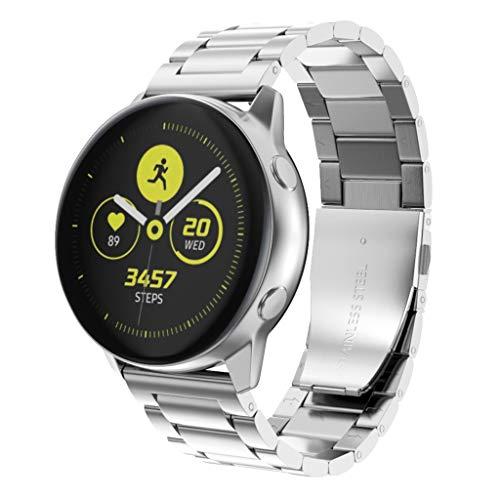 Correa de Reloj para Samsung Galaxy Watch Active 2 40/40mm – Correa de Acero Inoxidable Cuentas Pulsera – Ajustable…
