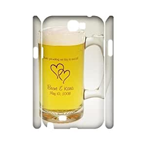 Custom Induction of beer Case for Samsung Galaxy Note 2 N7100 with Heart and heart induction yxuan_4202091 at xuanz