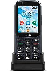 Doro 731X Olåst Dual-SIM 4G Mobiltelefon för Seniorer med GPS, WhatsApp för Videosamtal, Facebook och Laddningsdocka Ingår [Svensk Version]