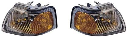 For Ford Thunderbird//Mercury Cougar 1996-1997 Parking Signal Pair Driver and Passenger Side Assembly Unit Pair Driver and Passenger Side