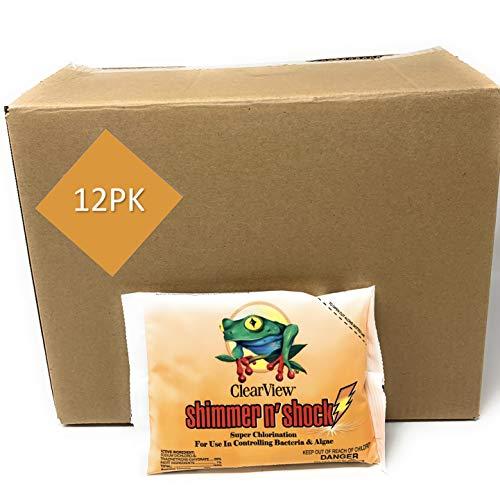 ClearView Shimmer-N Shock Granular Chlorine DiChlor | 1 LB Bag - 12 - Shock Dichlor Granular