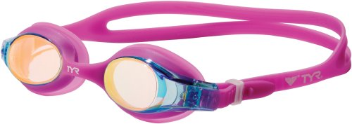 (TYR Swimple Youth Metallized Goggle (Berry Fizz))
