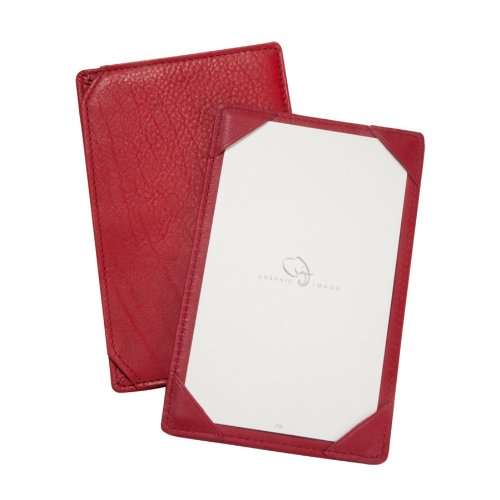 - Graphic Image Traditional Leather Jotters, Red