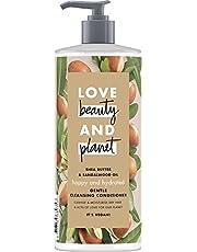 Miłość piękno i planeta szczęśliwa i nawodniona delikatna odżywka do czyszczenia włosów suchych masło shea i olej sandałowy bez silikonu 1 sztuka (500 ml)