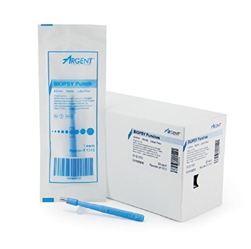 Punch Biopsy Punch - Biopsy Punch McKesson Argent Dermal 4 mm, Qty : Box of 25