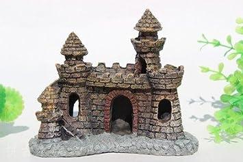 Mio.oo Simulación Decoración pecera Paisaje Decoración Resina Castillo Rockery: Amazon.es: Productos para mascotas
