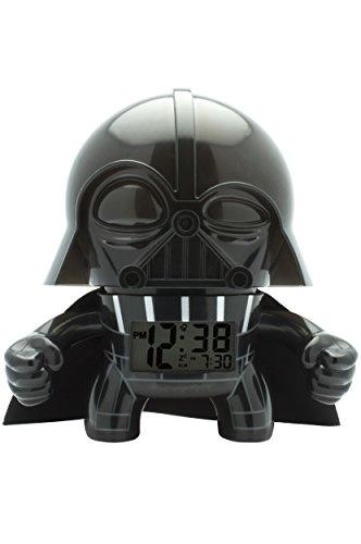BulbBotz 2020183 Star Wars Darth Vader Light Up Alarm Clock (3.5 Inches Tall)