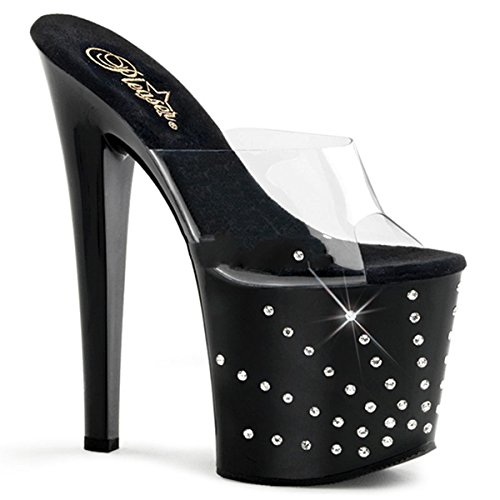 Pleaser STARBURST-751 Clr/Blk Size UK 3 EU 36