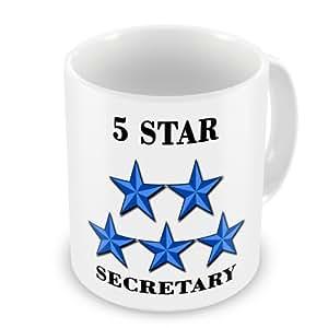 5Star secretario diseño de taza–azul