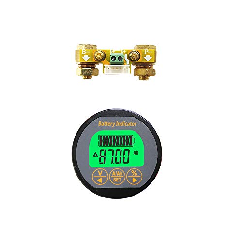 AiLi Battery Monitor Voltmeter Ammeter Voltage Current Meter 8-80V 0-100A Auto Car Motor Boat Caravan RV ()