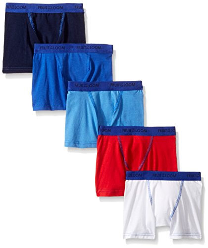 Fruit of the Loom Toddler Boys' 5 Pack Stretch Boxer Brief, Assorted, 2T/3T