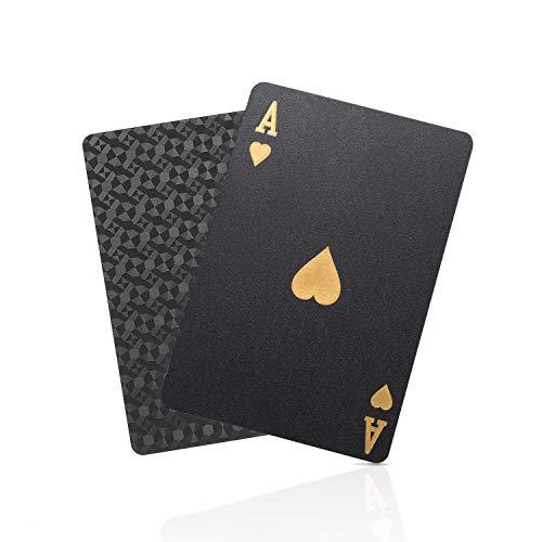 SolarMatrix Black Diamond Plastic Waterproof Playing Cards Novelty (HD,1 Deck of Cards, Poker Cards Deck)