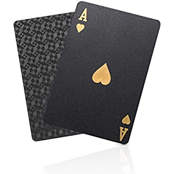 Amazon.com: Gent Supply Black Waterproof Playing Cards - Day ...