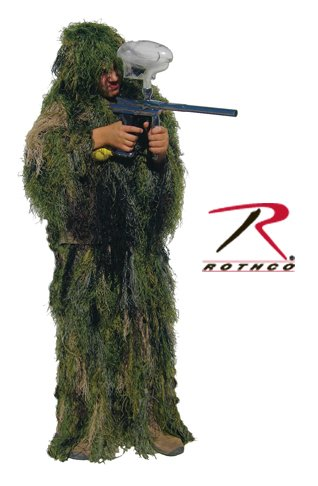 Rothco Bushrag Kids Ultralight Gillie Suit, Woodland, Large