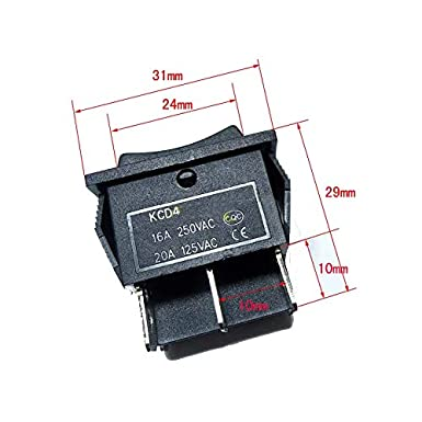 US Motor Polarity Reverse Reversing KCD4 Rocker Switch 16A 125V 250V 20A