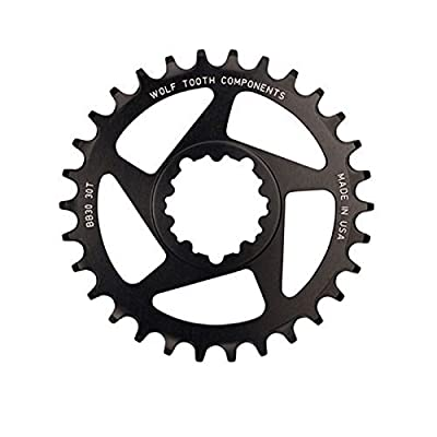 Wolf Tooth Components 28t Drop-Stop Chainring for SRAM BB30 Short Spindle,Black