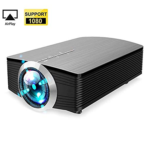 Portable Mini Video Projector+20% Lumens, Multimedia LCD Home Theater Projector HDMI Cable, Support 1080P HDMI USB SD Card VGA AV TV Laptop Game iPhone iPad Android Smartphone