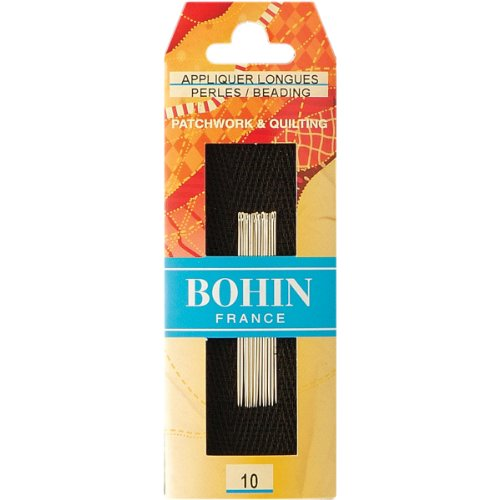 - Bohin Bead/Applique Needles, Size 10, 15 Per Package
