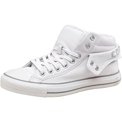 e1ec9c654c4e Converse Mens CT All Star Padded Collar 2 Mid Leather White Grey - 7 ...