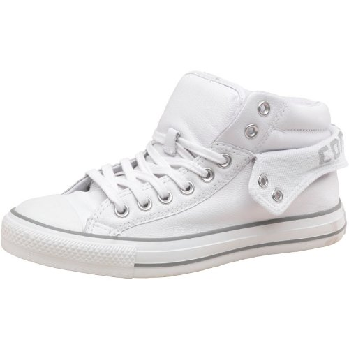 a3799630a5cd Converse Mens CT All Star Padded Collar 2 Mid Leather White Grey - 7 UK 7  EUR 40  Amazon.co.uk  Shoes   Bags