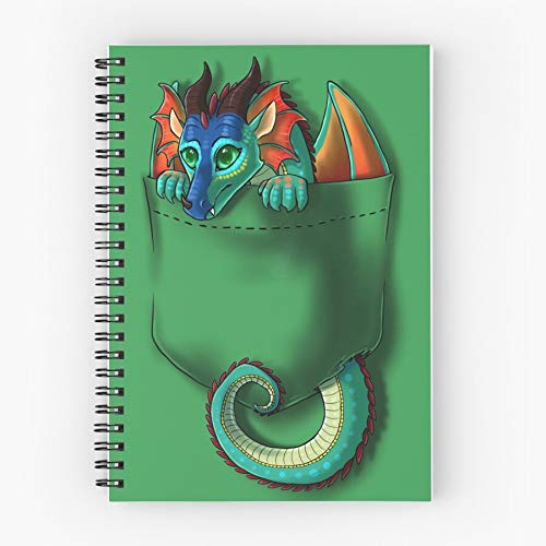 Pocket Fire Glory Of Wings Dragon Spiral Cute School Five Star Spiral Notebook With Durable Print