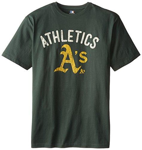 MLB Oakland Athletics Screen Print Short Sleeve T-Shirt, Dark Green, X-Large Tall