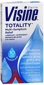 - PACK OF 5 - Visine Totality Multi-Symptom Relief Lubricant/Astringent/Redness Reliever Eye Drops, .5 Fl Oz