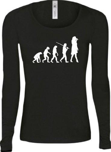 Shirtstown - Camiseta - Manga Larga - Mujer negro