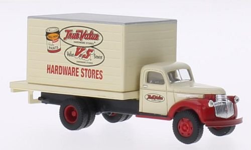 (Chevrolet 41/46 Delivery Truck, True Value, Model Car, Ready-made, Classic Metal Works 1:87)