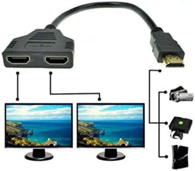 Tivollyff 1080P高解像度マルチメディアインターフェースポートケーブルアダプター1アウト2アウトスプリッターケーブルアダプターコンバーター